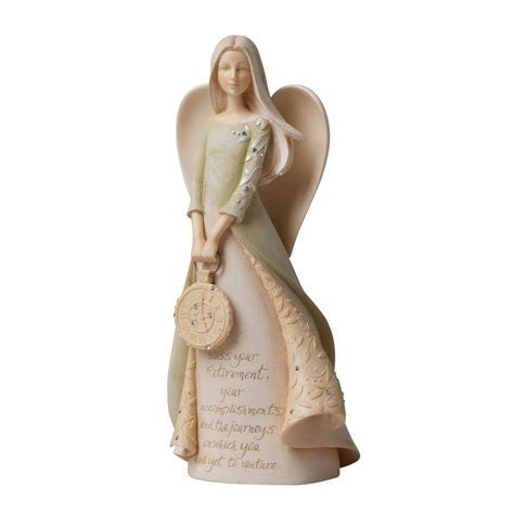 Foundations Retirement Angel Figurine: Fitzula's Gift Shop