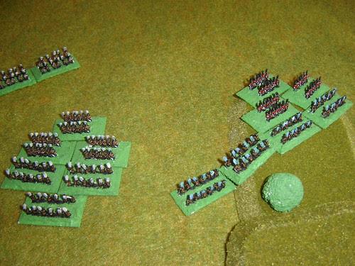 Yamanouchi and their new comrades charge Mori Ashigaru