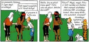 Le lingue inventate, nel Fumetto