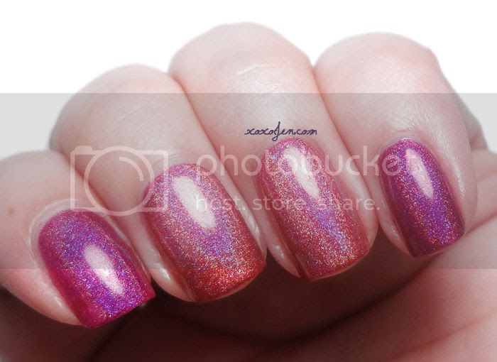 xoxoJen's swatch of Wyld Pixie and Tripindicular by Liquid Sky Lacquer