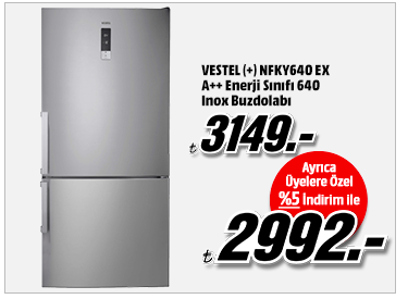 VESTEL (+) NFKY640 EX A++ Enerji Sınıfı 640 Inox Buzdolabı 2992TL