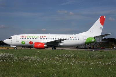 VivaAerobus (vivaaerobus.com) Boeing 737-33A LN-KKE (XA-VIR) (msn 27285) QLA (Antony J. Best). Image: 913852.