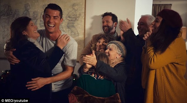 Ronaldo and his big family were ecstatic to see each other after being reunited at home