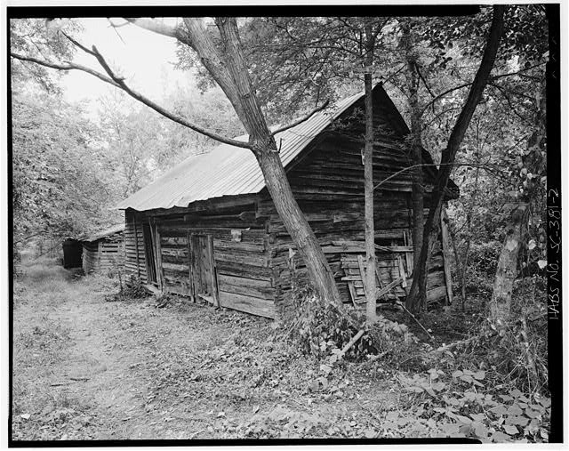 2.  West front and south side - Featherstone Tenant Farm, County Road 81, Lowndesville, Abbeville County, SC
