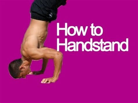 learn   stand   hands   handstand tutorial