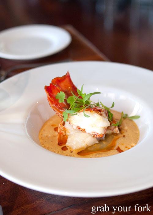 lobster medallion ravioli bisque d'Arrys Verandah Restaurant, McLaren Vale