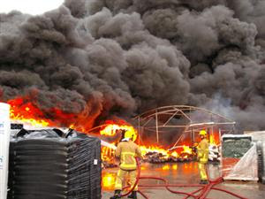 Flames at start of incident