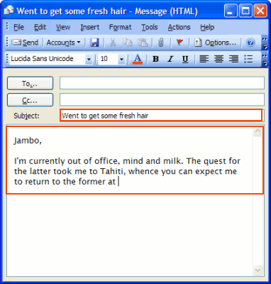 et auto reply outlook express 1