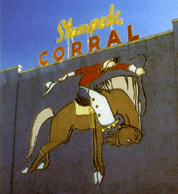 Calgary Stampede Corral logo 1988