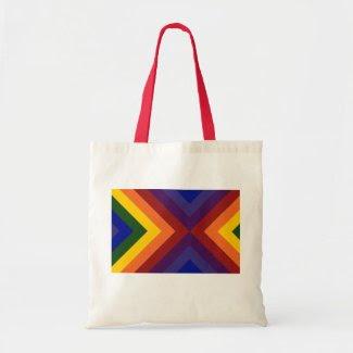 Rainbow Chevrons bag