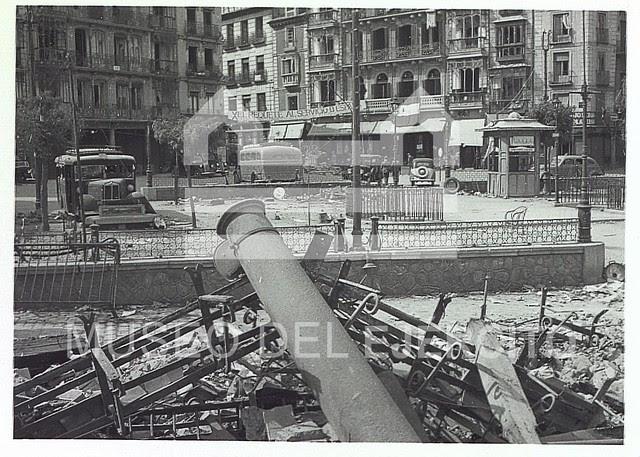 Zocodover destruido en 1936 © Museo del Ejército, Ministerio de Defensa