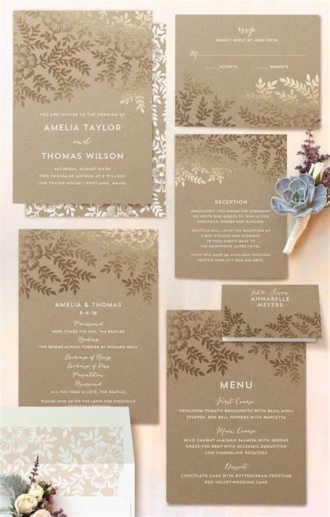 25  best ideas about Elegant wedding invitations on