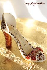 Leopar desenli ayakkabi- gumpaste