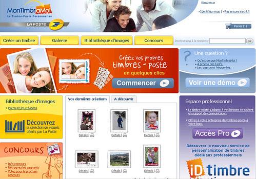 Image site accueil MonTimbreaMoi sigle de la poste