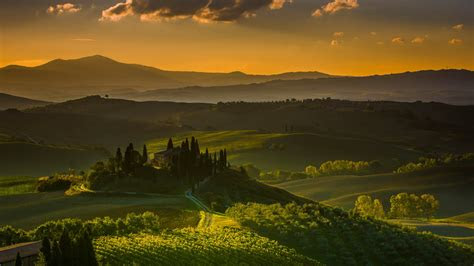 wallpaper tuscany italy landscape  nature