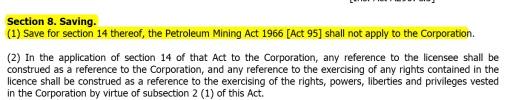 Petroleum development Act - Cancelling 1966