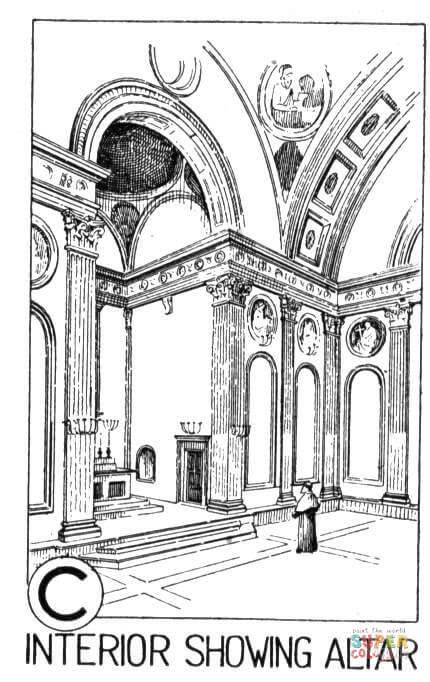 Dibujo De Altar En La Capilla Para Colorear Dibujos Para Colorear