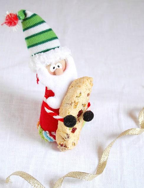 Holiday biscotti / Biscotti de Natal