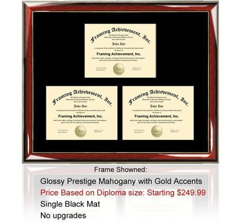 Triple Certificate Frame College Diploma Frame Certificate