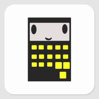My Happy Calculator sticker
