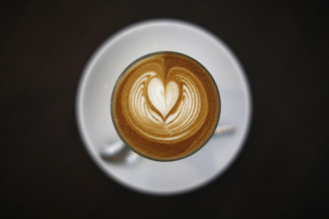 A cup of latte is pictured at a cafe in Sydney