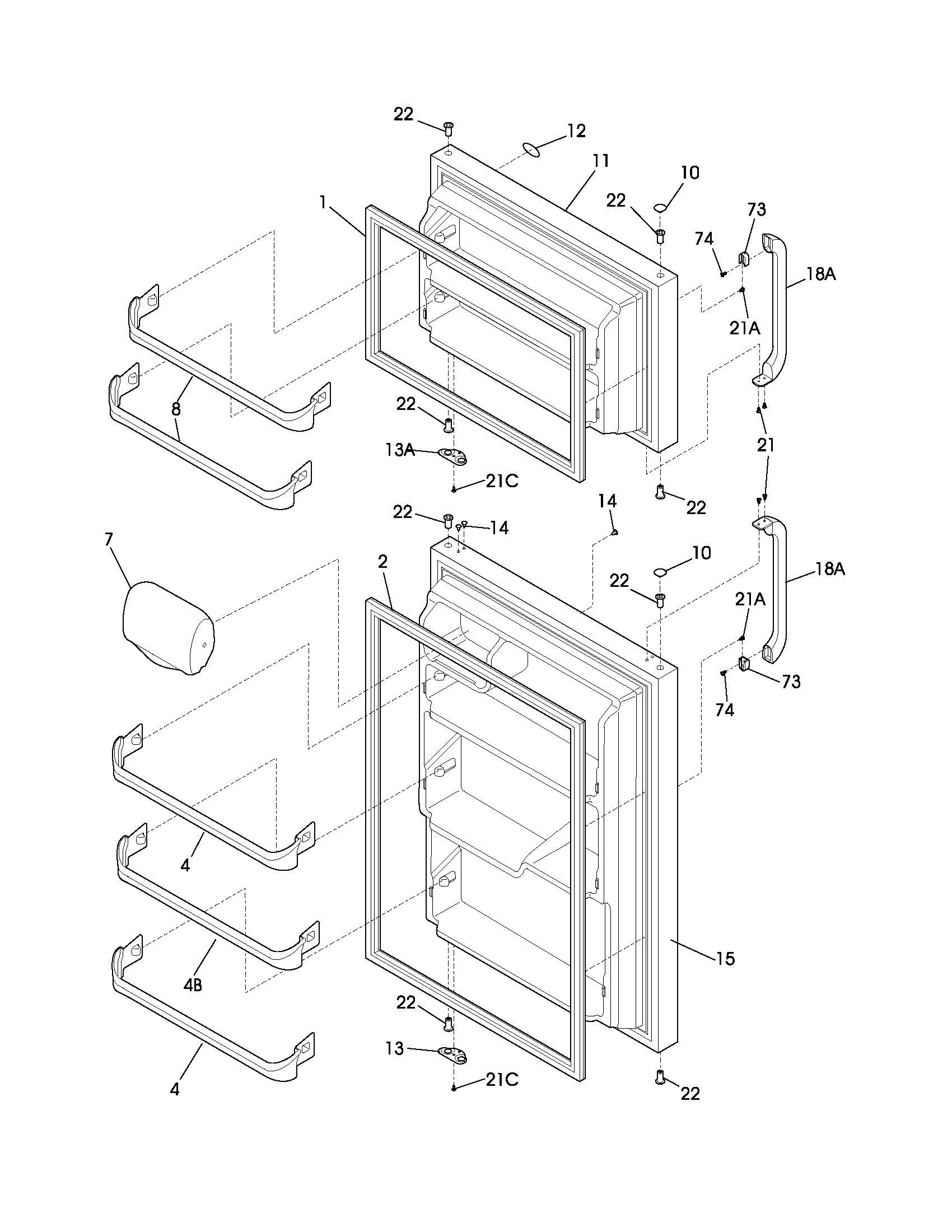 Refrigerators Parts Refrigerator Parts Frigidaire