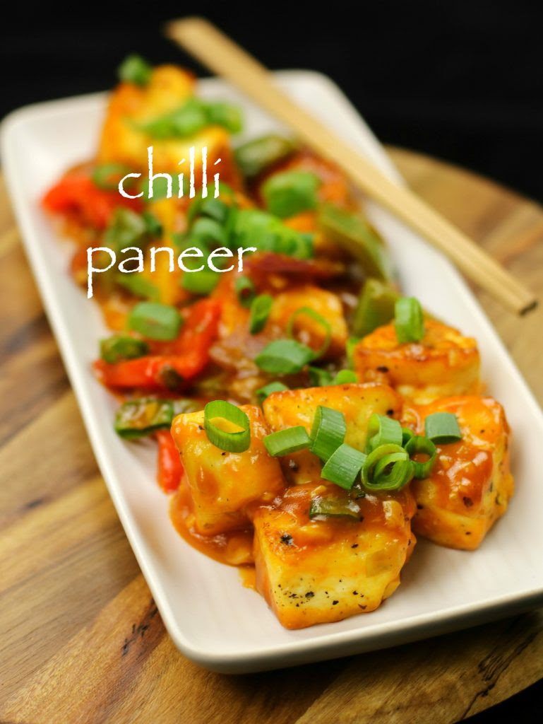 chilli paneer recipe | chilli paneer dry recipe | paneer ...