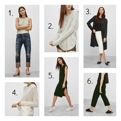 Minimalist clothing finds from Aritzia