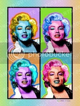 Pop Art Tribute to Marilyn Monroe