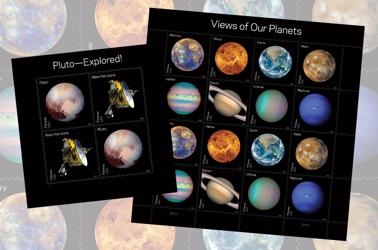 Planets Postage: US Postal Service Issues New Solar System, Pluto Stamps