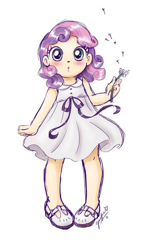anime sweetie belle sketch  chibi jen hen  deviantart