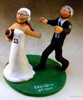 Magic Mud Wedding Cake Toppers