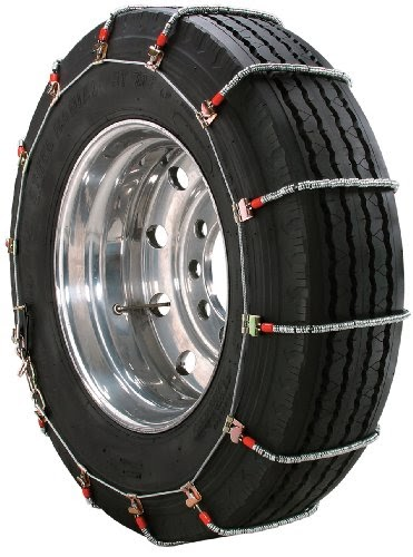 Set of 2 Security Chain Company QG2847CAM Quik Grip V-Bar Truck Single CAM RS Tire Traction Chain