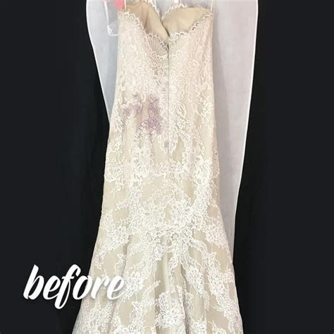 Wedding Dress Wine Stain Removal by Elegance Preserved