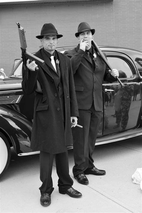 Groom and Best Man. My 1920's Gangster Wedding.   My Real