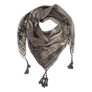 Tuch Schal Stola Halstuch Schals Fransen Faltenschal Baumwolle Dreiecktuch NEU