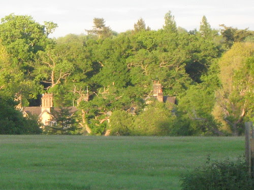 Sandringham house at evening