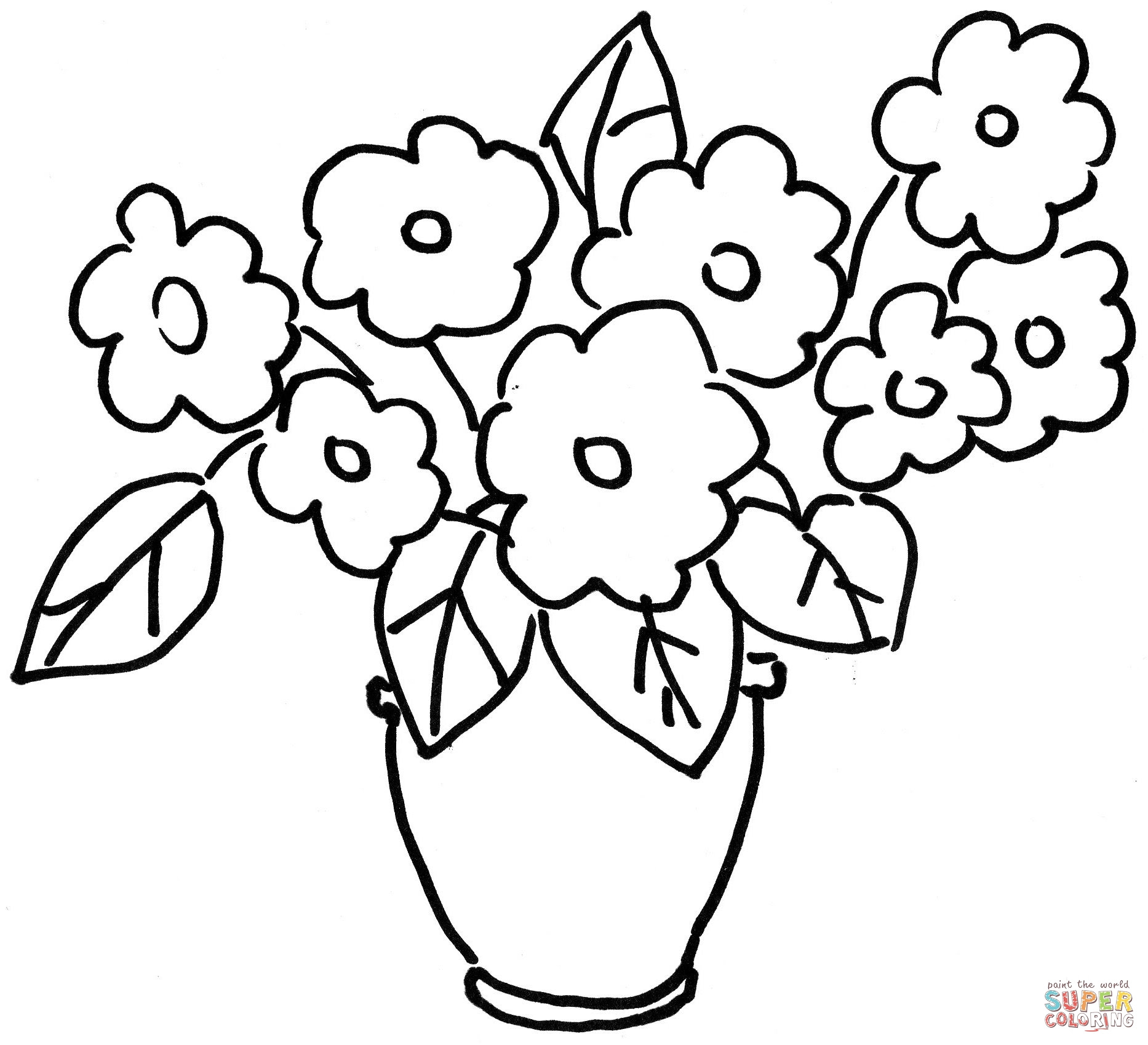 Pansy Violets Flower Coloring Page Free Printable Coloring Pages