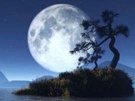 Papel de parede 'Lua 3D'