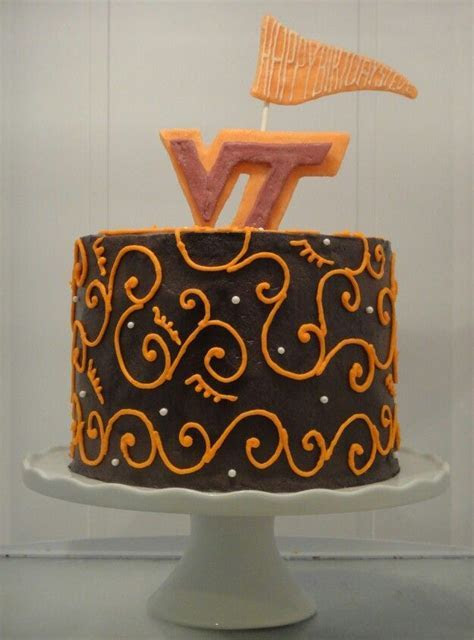 Virginia tech birthday cake   My Cake Gallery   Pinterest
