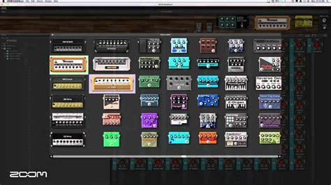 zoom  guitar effects  amp simulator pedal