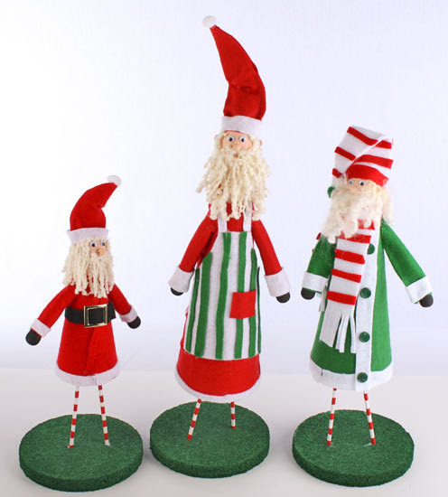 Felt and Styrofoam Elves Santas Little Helpers: Felt and Styrofoam Elves