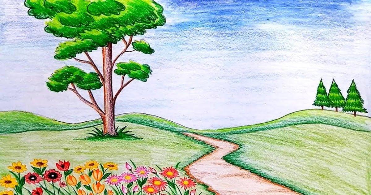 Gambar Pemandangan Alam Yang Indah Dan Mudah Digambar ...