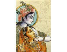 Grand Traditional Radha Krishna Wedding Card