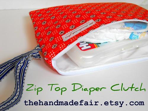 Zip Top Diaper Clutch - Wet Bag 2