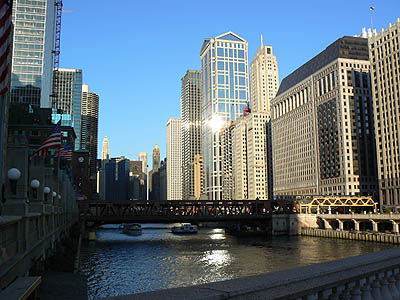 sur les bords de la Chicago River.jpg