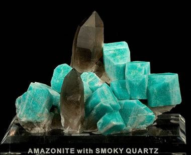 Colorado Amazonite and Smoky Quartz - irocks