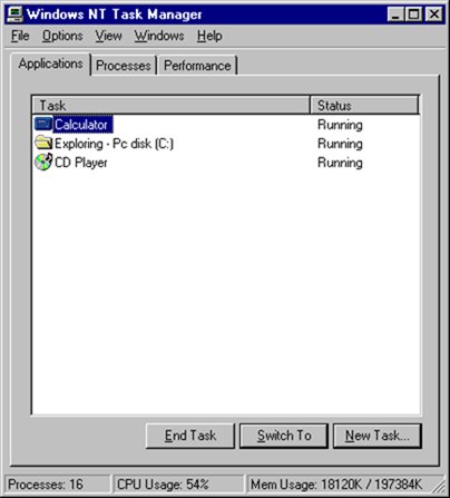 windows nt task manager Evolution of the Task Manager   From Windows 3 to Windows 8
