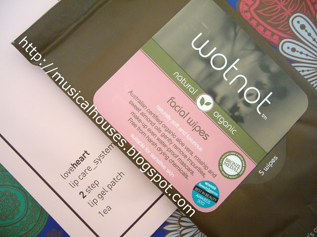 Bellabox August Wotnot Face Wipes Brilliant Lip Gel