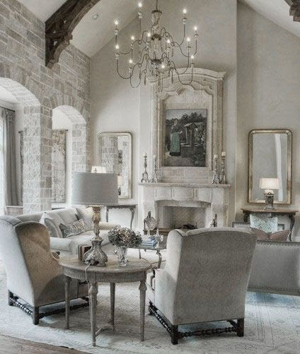 ♅ Dove Gray Home Decor ♅  country living room